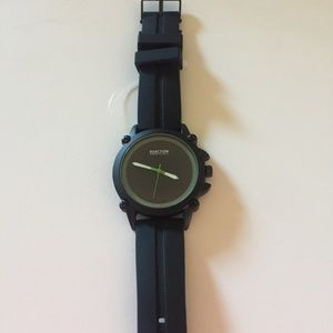 KENNETH COLE REACTION MENS WATCH BLACK NWOT